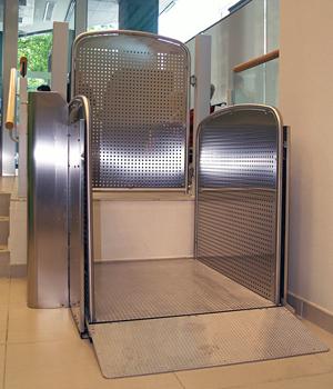 Plataforma salvaescaleras vertical silver for Salvaescaleras vertical